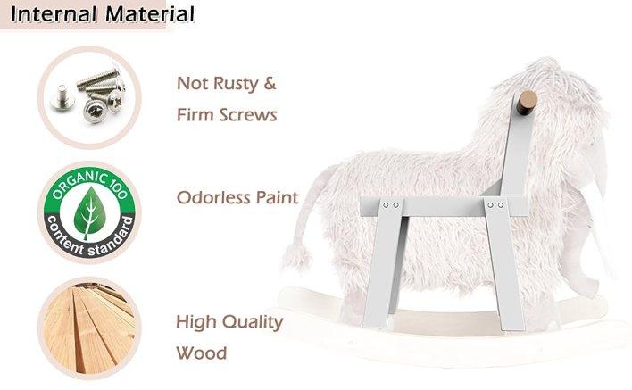 Plush Rocking Horse, Mammoth