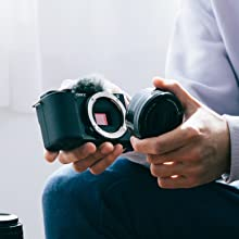 Image showing the camera is an interchangeable lens camera