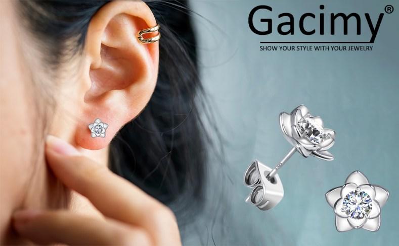Gacimy flower stud earrings for women