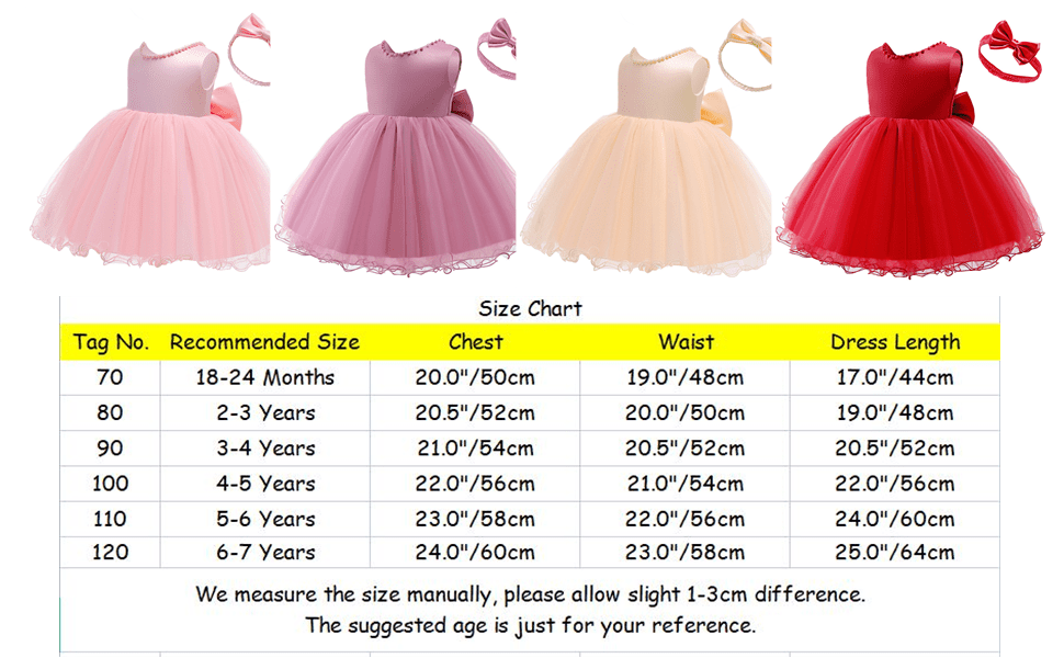 Kids Baby Girls Backless Bowknot Tutu Dress with Headband First Communion Party Dress Outfit