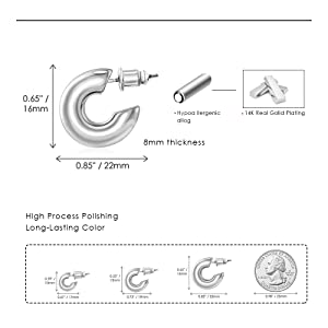High-quality craftsmanship hypoallergenic earrings