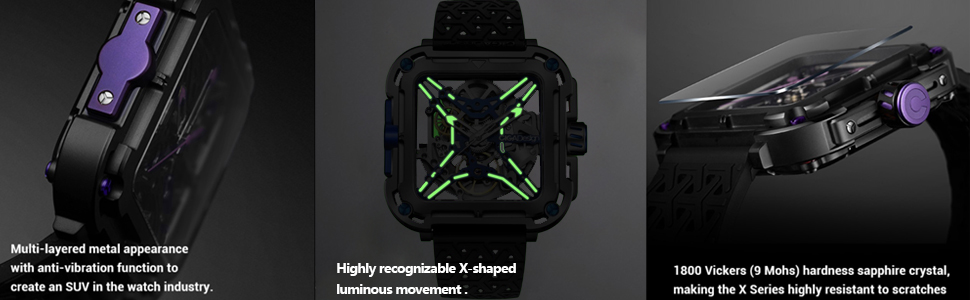 CIGA Design Watches for Men X Series Automatic Self Winding Mens Skeleton Watch