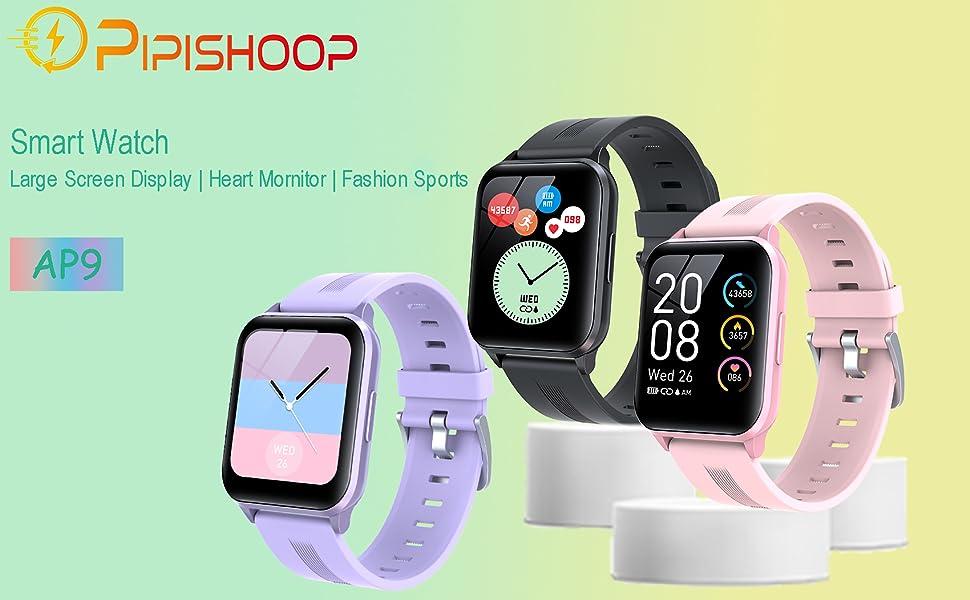 Pipishoop Smart Watch-Large Screen play, heart mornitor, fashion sports