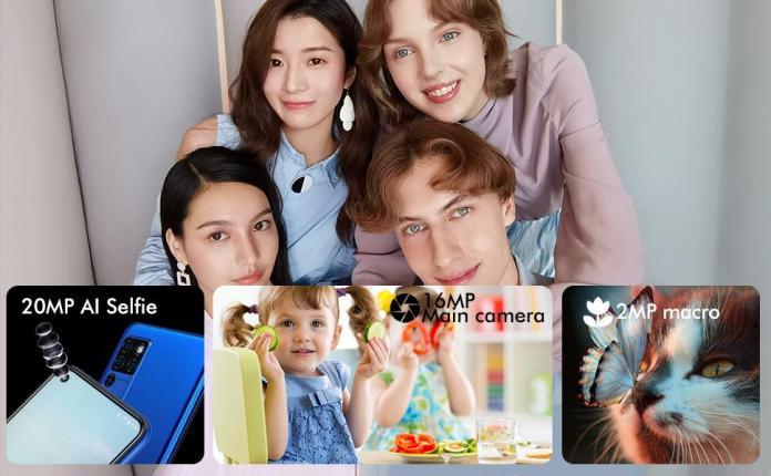 20MP Selfie & 16MP AI Quad Camera