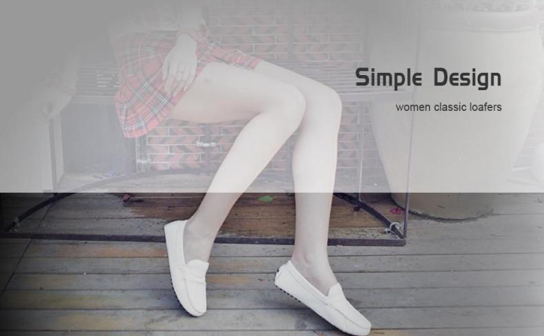 AUSLAND women classic loafers flat shoes