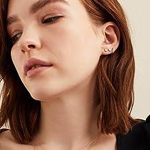 Gacimy hypoallergenic stud earrings for women