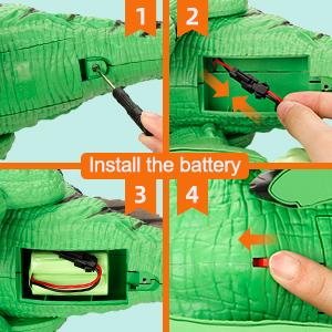 Dinosaur Battery Installing