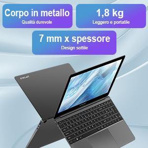 Notebook è sottile 7 mm e pesa 1,8 kg