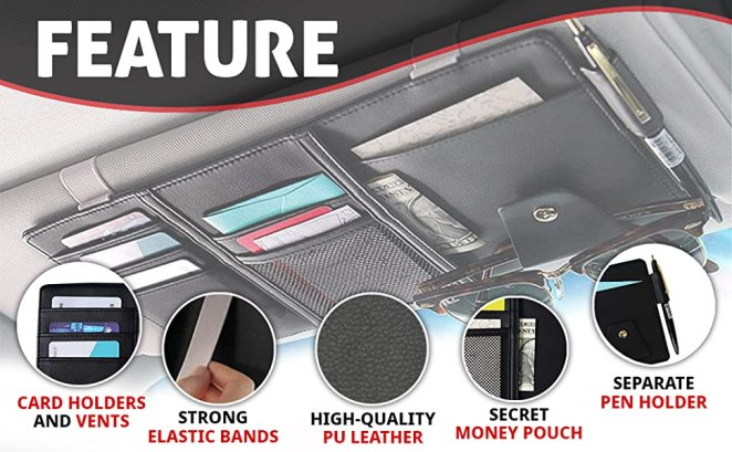 features of the visor organizer