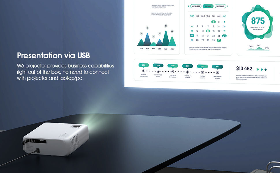 Portable projector supports Office