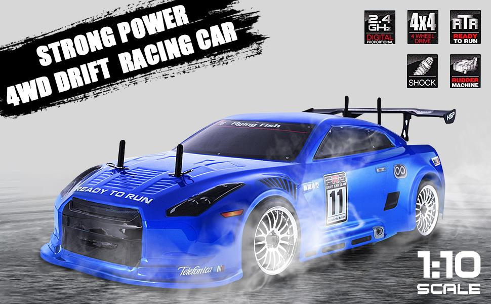 HSP Rc Car 1:10 4wd On Road Rc Drift Car Brushless Lipo High Speed Hobby Remote Control Car