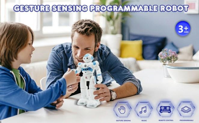 BBdis RC Robot Toy, Gesture Sensing Remote Control Robot for Kids Intelligent Programmable Robot