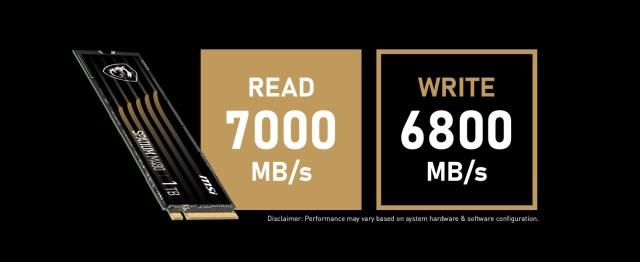 Read and write speeds