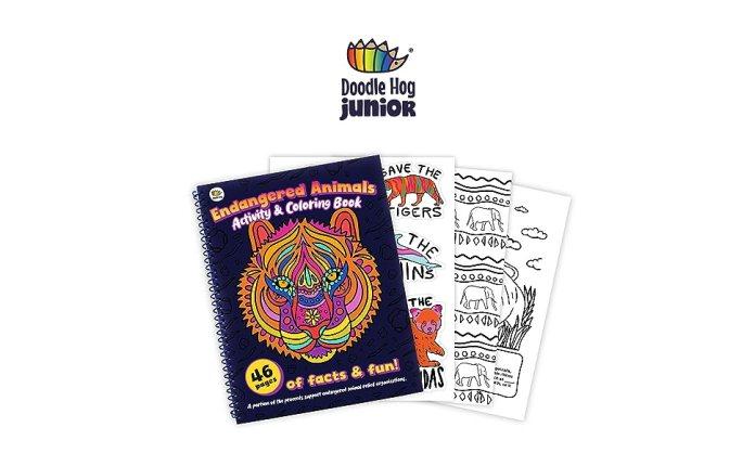 Doodle Hog Endangered Animals Coloring Book Panel 1
