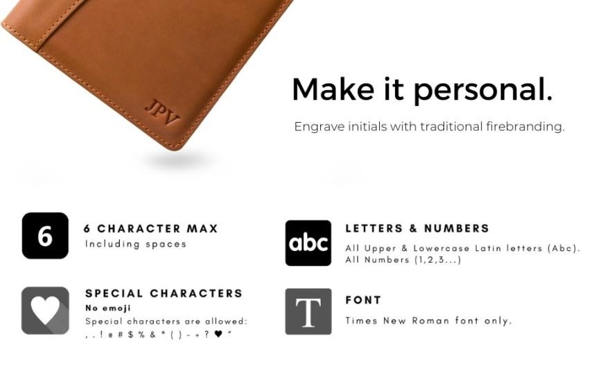 pegai personalized leather padfolio