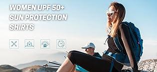 Women upf 50+ sun protection shirts