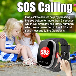 kids smart watch smartwatch phone SOS help one button for help boys girls phone gift
