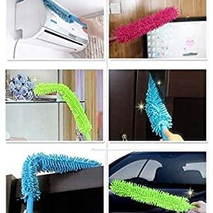 Cleaning Duster Steel Body Flexible Fan mop