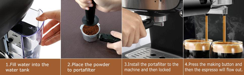 Bonsenkitchen Espresso Coffee Machine