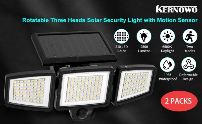 Outside solar motion sensor light 2 packs