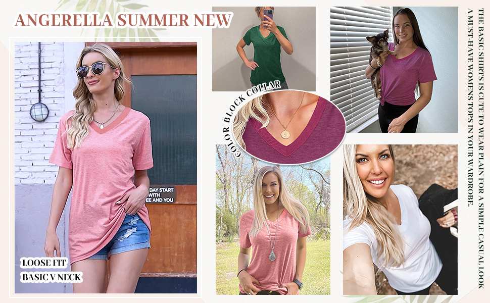 womens summer top loose fit
