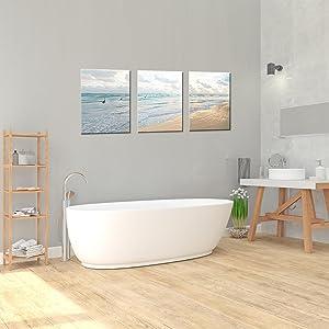 Beach seascape wall art