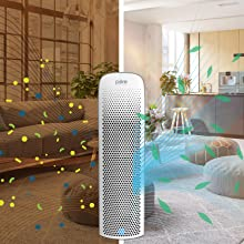 PureZone Elite 4-in-1 Air Purifier powerfully cleaning a home