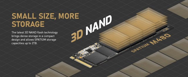 3d nand drive small size and more storage