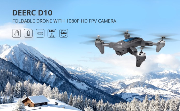 Foldable drone with 1080P HD FPV Camera