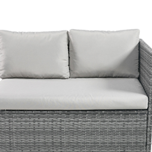 7pcs Patio Outdoor Furniture Sets All-Weather Rattan Sectional Sofa with dining table