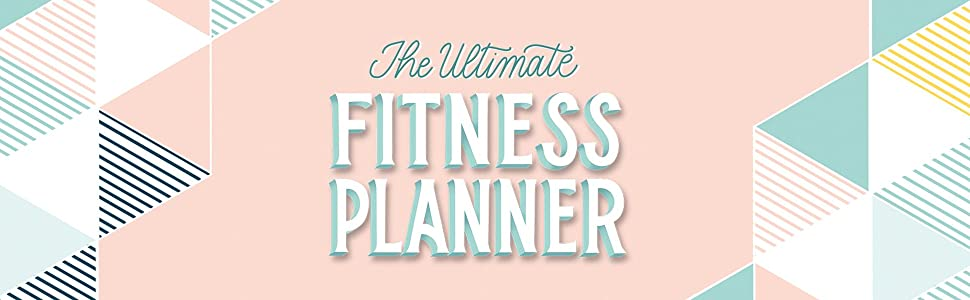 The Ultimate Fitness Planner title centered around graphics