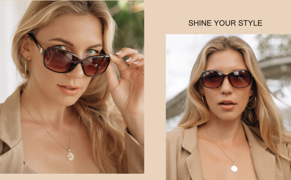 2 pack womens sunglasses vintage protection eyes from harmful UV rays PC lens ultralight