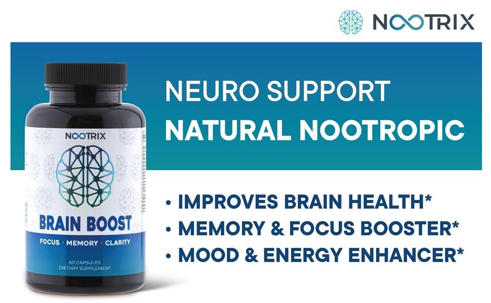 nootropics nootropics brain support supplement focus booster memory clarity alert energy