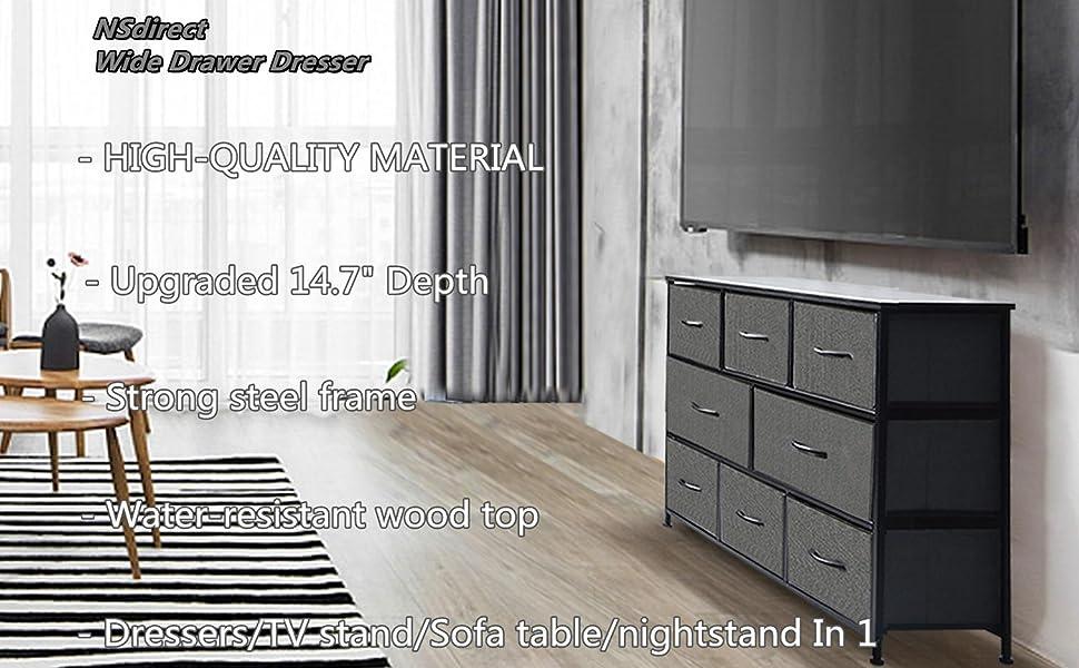 Drawer Dresser Storage Organizer 8-Drawer Closet Shelves, Dressers Storage Chest for Bedroom