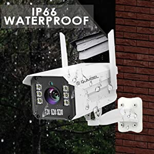 IP66 water and dust proof weatherproof outdoor cctv camera color cctv camera wireless NVR support