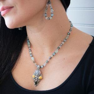 sterling silver gemstone pendant enhancer