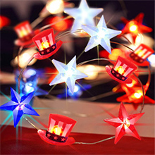 american star string lights holiday string light independence day decor