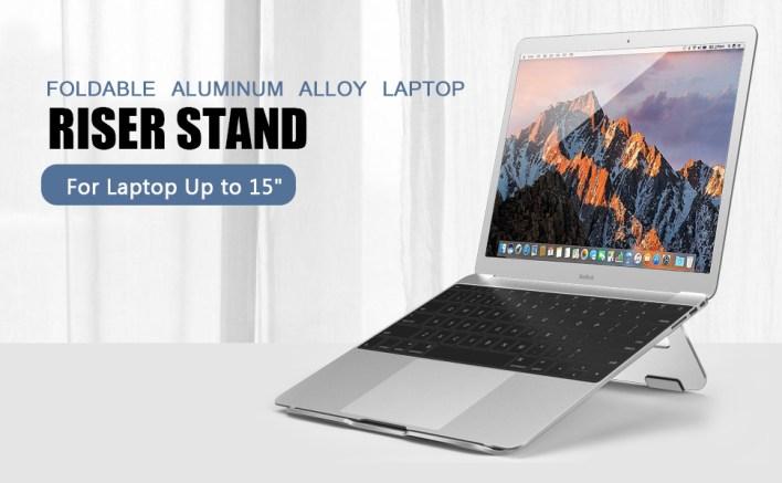 Foldable Aluminum Alloy Laptop Stand Riser for Home office Desk