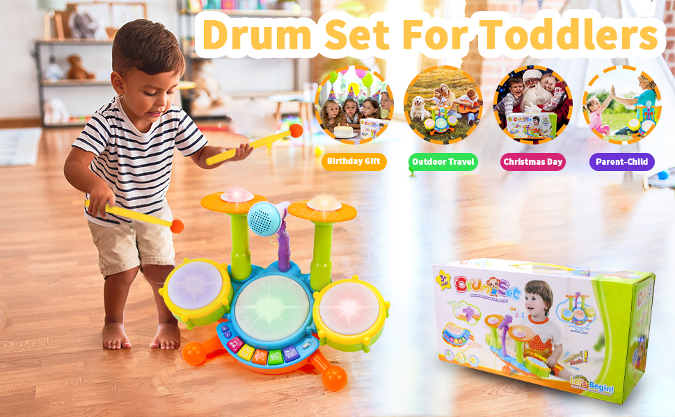 drum set toys for 1 year old girl