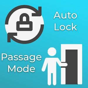 man entering, auto locking