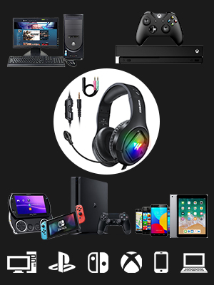 Auriculares para juegos de alta calidad para plataformas múltiples