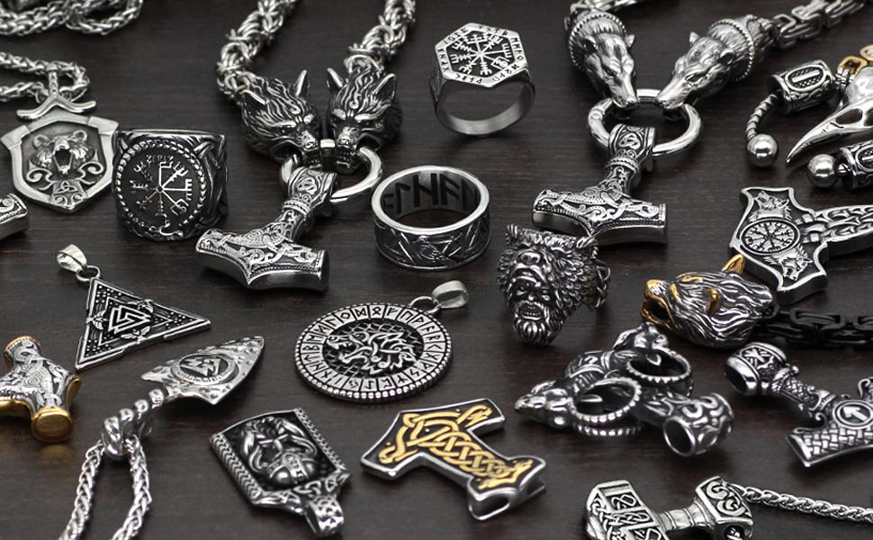 viking necklace  ring bracelet