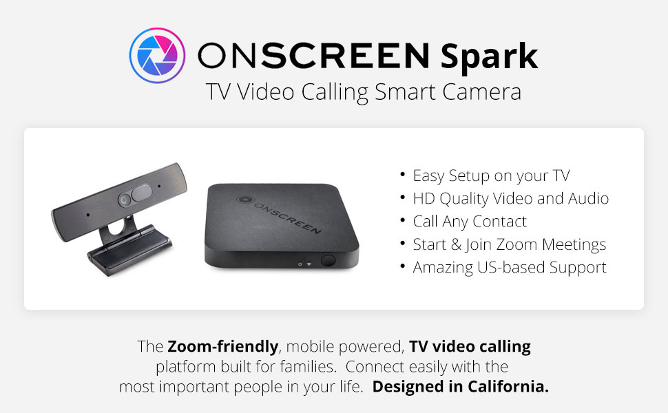 tv video calling device, onscreen spark
