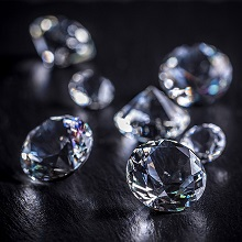 crystal round cut halo earrings