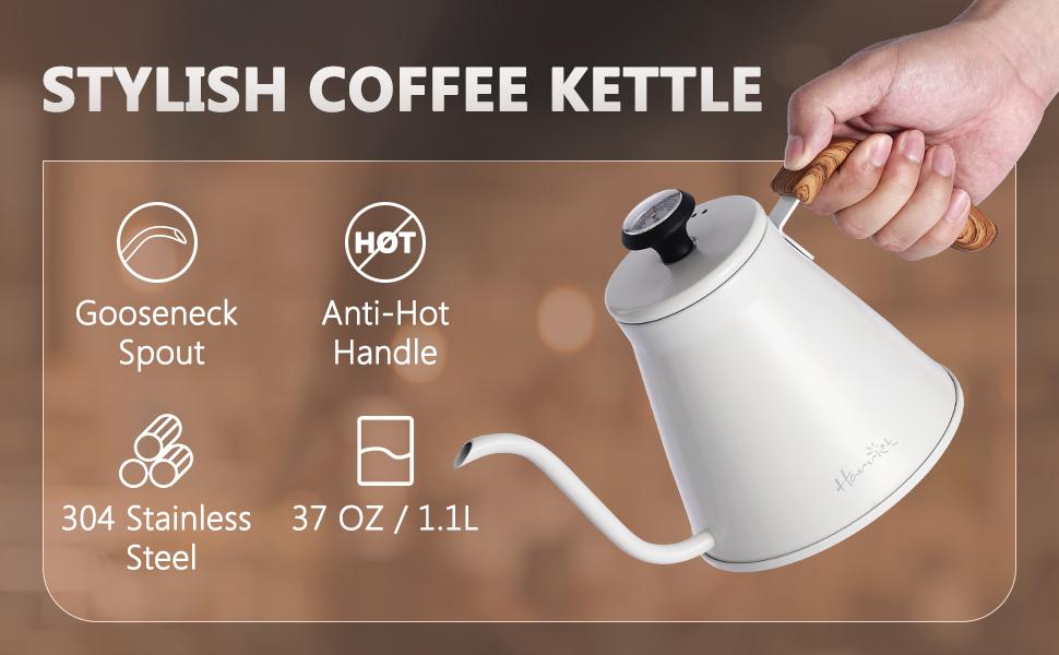 Stylish coffee kettle