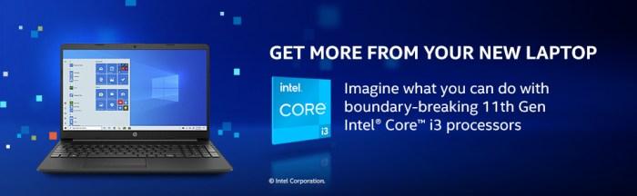 11th Gen Intel Core i3 processors