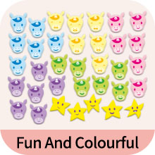 Fun and colorful - putska potty training chart comes with 35 magnets in 6 different colors