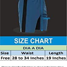 Dia A Dia Shorts are of free size. These shorts are comfortable from 28 to 34 inches waistline.