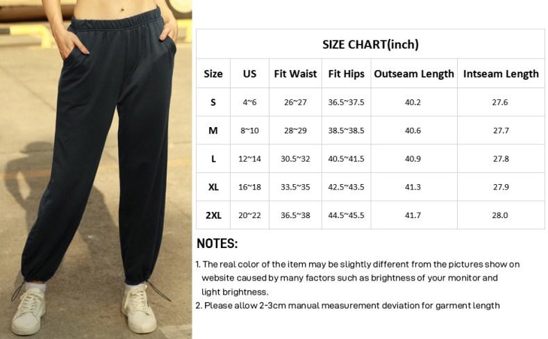 Women's high waist active pants casual elastic sweatepants soft loungerwear bottom