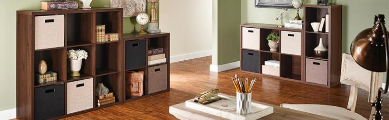 decorative storage, cube organizer, premium organizer, closetmaid, premium fabric bins